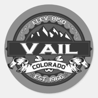 Vail City Logo Grey Round Sticker
