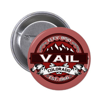 Vail City Logo Red 6 Cm Round Badge