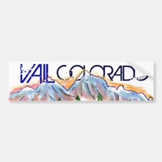 Vail Colorado artistic mountain sticker