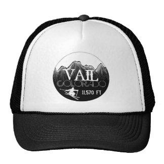 Vail Colorado black white ski mountain hat