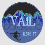 Vail Colorado blue mountain ski stickers