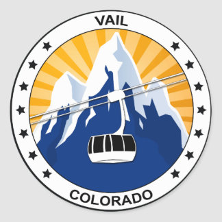 Vail Colorado Classic Round Sticker