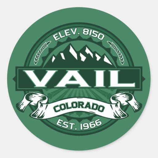 """Vail """"Colorado Green"""" Logo Sticker"""