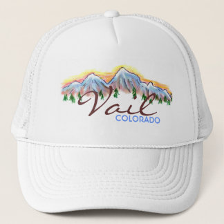Vail Colorado mountain art hat