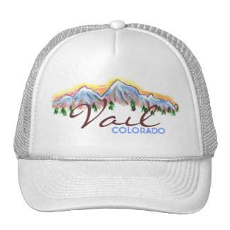 Vail Colorado mountain art hat