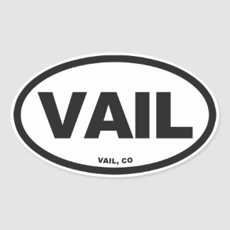 Vail Colorado Oval Sticker