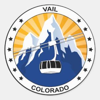 Vail Colorado Round Sticker