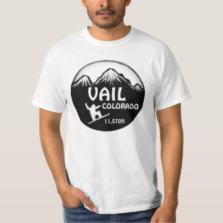 Vail Colorado snowboard art value tee