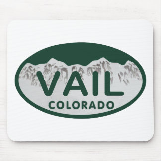 Vail license oval mouse pad