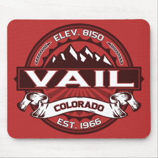 Vail Logo Red Mouse Pad