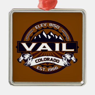 Vail Logo Vibrant Silver-Colored Square Decoration