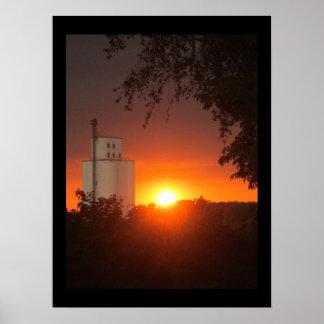 Vail Silo Sunset Poster