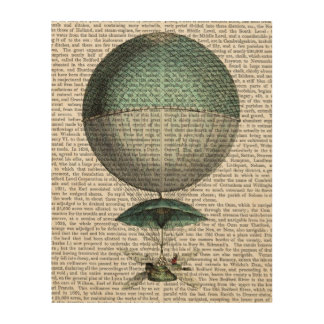 Vaisseau Volant Hot Air Balloon Wood Wall Decor