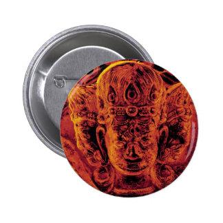 Vajrapani Head Gold Button