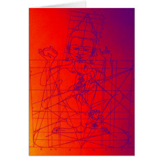 Vajrasattva and Consort Sketch Greeting Card