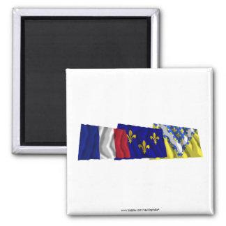 Val-de-Marne Île-de-France France flags Refrigerator Magnet
