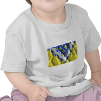 Val-de-Marne waving flag T-shirts