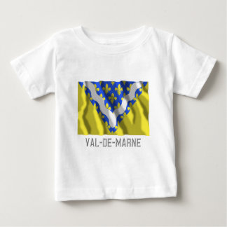 Val-de-Marne waving flag with name Tshirt