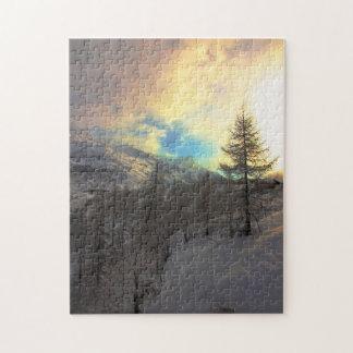 Val D'Isere Alpine Sunrise Jigsaw Puzzle