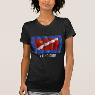 Val-d'Oise waving flag with name T Shirts