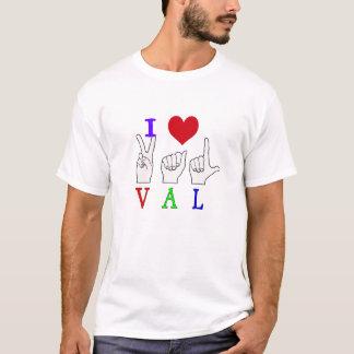 VAL NAME ASL FINGER SPELLED SIGN T-Shirt
