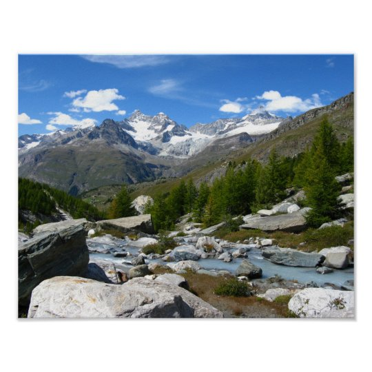 Valais Alps Poster