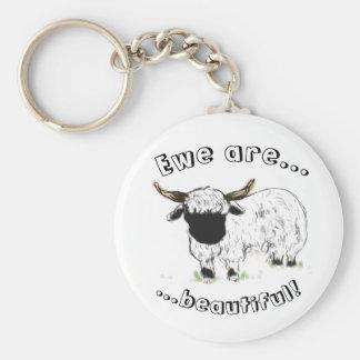 Valais blacknose sheep - Ewe are beautiful! Key Chain