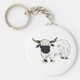 Valais blacknose sheep key chains
