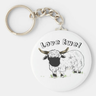 Valais blacknose sheep - Love Ewe! Keychains