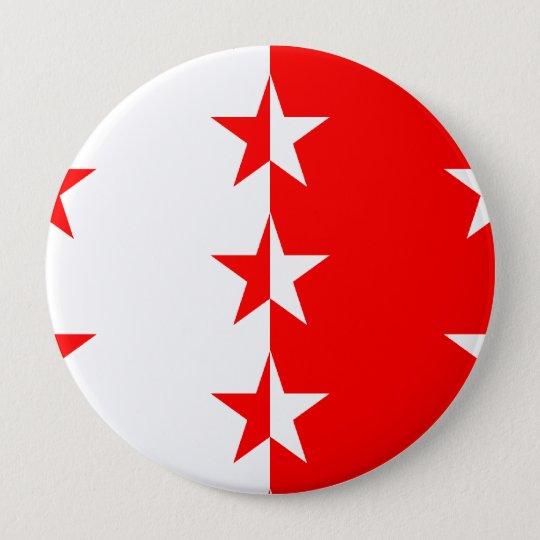 Valais, Switzerland 10 Cm Round Badge
