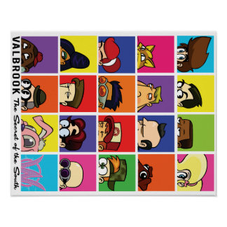 Valbrook Cast Heads Poster