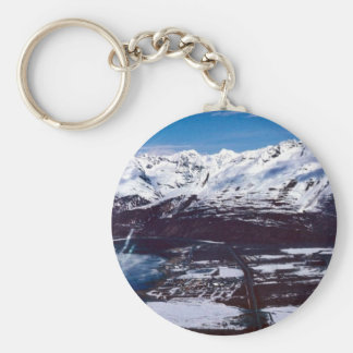 Valdez, Alaska Basic Round Button Key Ring