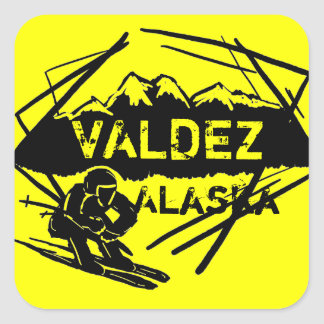 Valdez Alaska ski stickers
