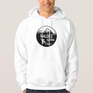 Valdez Alaska snowboard art guys hoodie