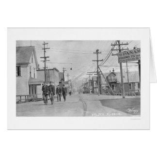 Valdez Alaska Street 1912 Greeting Card