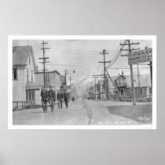 Valdez, Alaska Street 1912 Poster