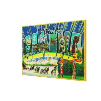 Valdez, AlaskaLarge Letter ScenesValdez, AK Stretched Canvas Print