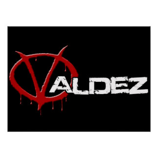 Valdez black poster