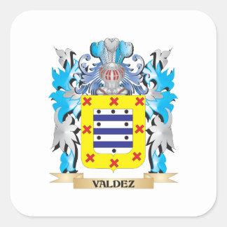 Valdez Coat of Arms - Family Crest Square Sticker