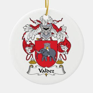 Valdez Family Crest Round Ceramic Decoration