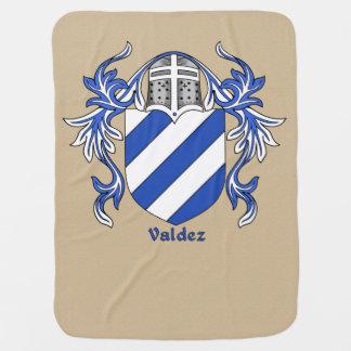 Valdez Heraldic Shield and Mantling Receiving Blankets