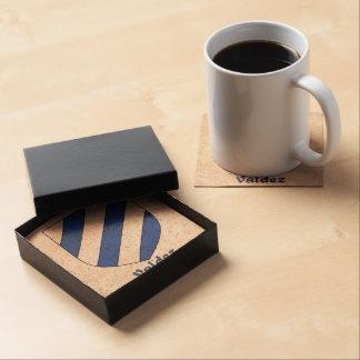 Valdez Heraldic Shield Drink Coasters