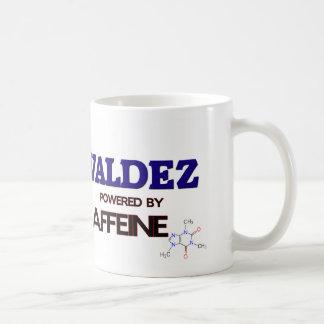 Valdez powered by caffeine mugs