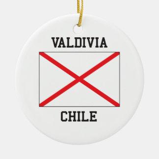 Valdivia Chile Round Ceramic Decoration