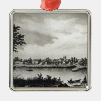Valdivia, from 'The History of Chile'engraved Christmas Ornament