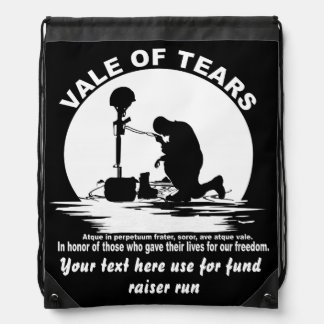 Vale of Tears Catullus Please Read About Design Drawstring Backpack