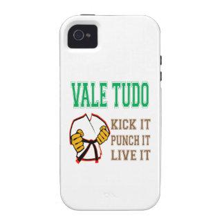Vale Tudo Kick it, Punch it, Live it Case-Mate iPhone 4 Case