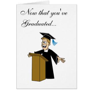 Valedictorian Card