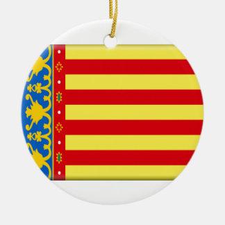 Valencia Flag Christmas Ornament