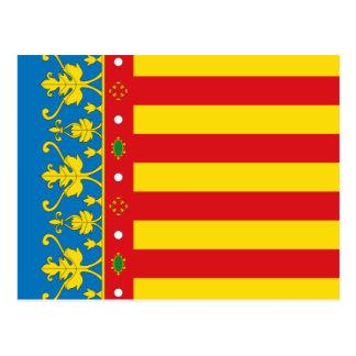 Valencia Flag Postcard
